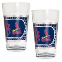 MLB St. Louis Cardinals Metallic Pint Glass (Set of 2)
