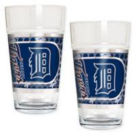 MLB Detroit Tigers Metallic Pint Glass (Set of 2)