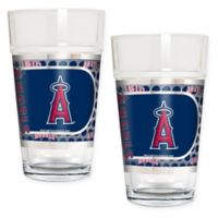 MLB Los Angeles Angels Metallic Pint Glass (Set of 2)