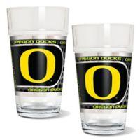 University of Oregon Metallic Pint Glass (Set of 2)