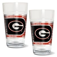 University of Georgia Metallic Pint Glass (Set of 2)