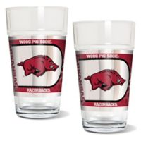 University of Arkansas Metallic Pint Glass (Set of 2)
