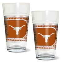 University of Texas Metallic Pint Glass (Set of 2)