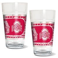 Ohio State University Metallic Pint Glass (Set of 2)