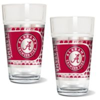 University of Alabama Metallic Pint Glass (Set of 2)