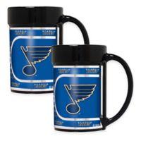 NHL St. Louis Blues Metallic Coffee Mugs (Set of 2)