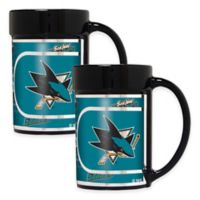 NHL San Jose Sharks Metallic Coffee Mugs (Set of 2)