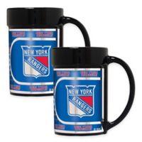 NHL New York Rangers Metallic Coffee Mugs (Set of 2)