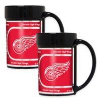 NHL Detroit Red Wings Metallic Coffee Mugs (Set of 2)