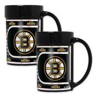 NHL Boston Bruins Metallic Coffee Mugs (Set of 2)