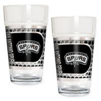 NBA San Antonio Spurs Metallic Pint Glass (Set of 2)