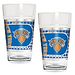 NBA New York Knicks Metallic Pint Glass (Set of 2)