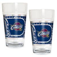 NBA Cleveland Cavaliers Metallic Pint Glass (Set of 2)