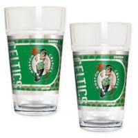 NBA Boston Celtics Metallic Pint Glass (Set of 2)