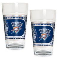 NBA Oklahoma City Thunder Metallic Pint Glass (Set of 2)