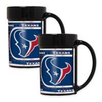 NFL Houston Texans Metallic Coffee Mugs (Set of 2)