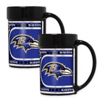 NFL Baltimore Ravens Metallic Coffee Mugs (Set of 2)