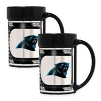 NFL Carolina Panthers Metallic Coffee Mugs (Set of 2)
