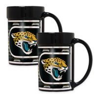 NFL Jacksonville Jaguars Metallic Coffee Mugs (Set of 2)
