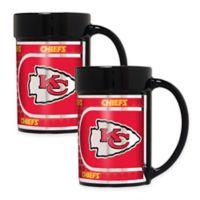 NFL Kansas City Chiefs Metallic Coffee Mugs (Set of 2)
