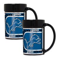 NFL Detroit Lions Metallic Coffee Mugs (Set of 2)