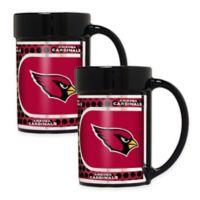 NFL Arizona Cardinals Metallic Coffee Mugs (Set of 2)