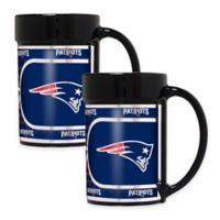 NFL New England Patriots Metallic Coffee Mugs (Set of 2)