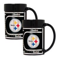 NFL Pittsburgh Steelers Metallic Coffee Mugs (Set of 2)
