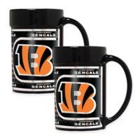 NFL Cincinnati Bengals Metallic Coffee Mugs (Set of 2)