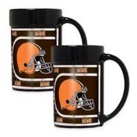 NFL Cleveland Browns Metallic Coffee Mugs (Set of 2)