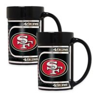 NFL San Francisco 49ers Metallic Coffee Mugs (Set of 2)