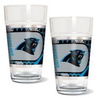 NFL Carolina Panthers Metallic Pint Glass (Set of 2)