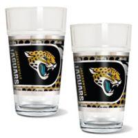 NFL Jacksonville Jaguars Metallic Pint Glass (Set of 2)