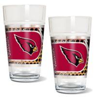 NFL Arizona Cardinals Metallic Pint Glass (Set of 2)