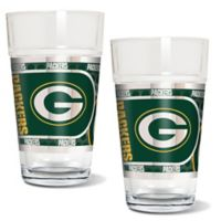 NFL Green Bay Packers Metallic Pint Glass (Set of 2)