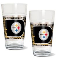 NFL Pittsburgh Steelers Metallic Pint Glass (Set of 2)