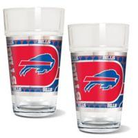 NFL Buffalo Bills Metallic Pint Glass (Set of 2)