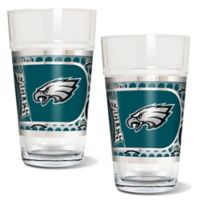 NFL Philadelphia Eagles Metallic Pint Glass (Set of 2)