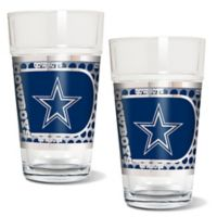 NFL Dallas Cowboys Metallic Pint Glass (Set of 2)