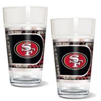 NFL San Francisco 49ers Metallic Pint Glass (Set of 2)