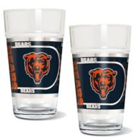 NFL Chicago Bears Metallic Pint Glass (Set of 2)