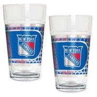 NHL New York Rangers Metallic Pint Glass (Set of 2)