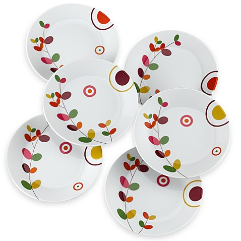 Philippe deshoulieres lilly canape plate set of 6 bed for Canape plate sets