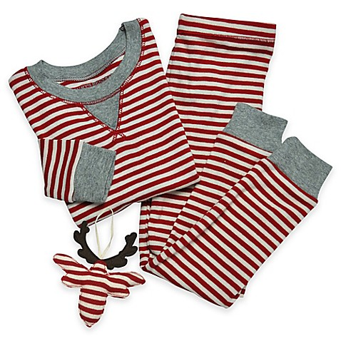 Burt S Bees Baby 174 3 Piece Candy Cane Pajama And Ornament