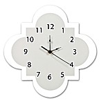 Trend Lab® Quatrefoil Wall Clock in Grey