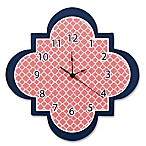 Trend Lab® Quatrefoil Wall Clock in Coral