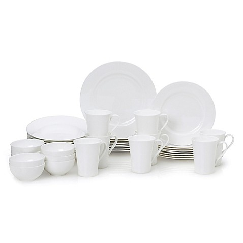 sc 1 st  Bed Bath \u0026 Beyond & Mikasa® Lucerne White 40-Piece Dinnerware Set - Bed Bath \u0026 Beyond