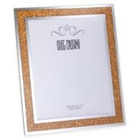 Oleg Cassini Crystal Diamond Gold 8-Inch x 10-Inch Picture Frame