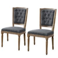 Shiraz Tufted Back Side Chairs in Charcoal (Set of 2)