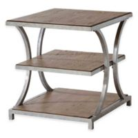 Stein World Palos Heights End Table in Weathered Oak